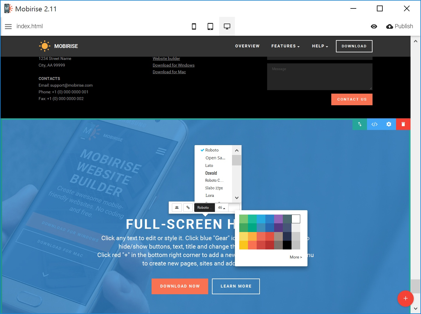 Free Mobile Web Page  Creator Review