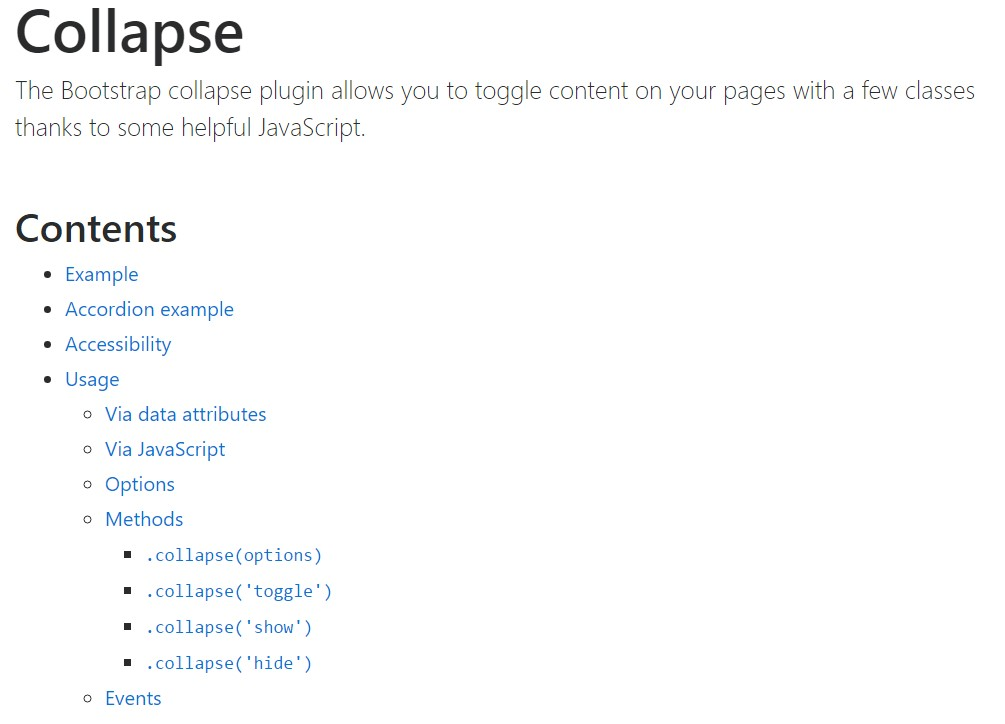 Bootstrap collapse official  information