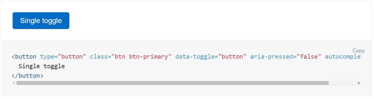 Toggle states  delivered  by simply Bootstrap buttons