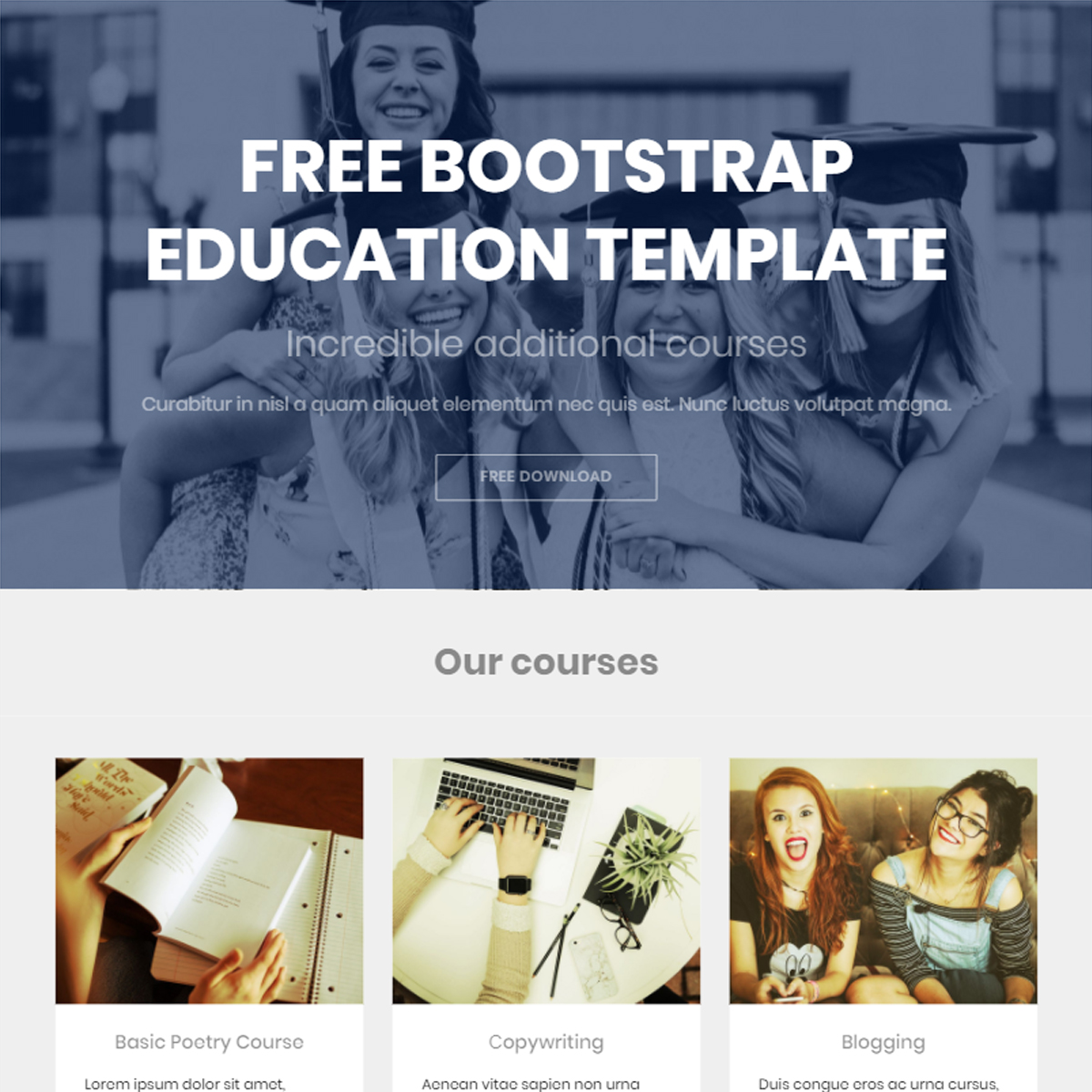 Responsive Bootstrap Education Themes