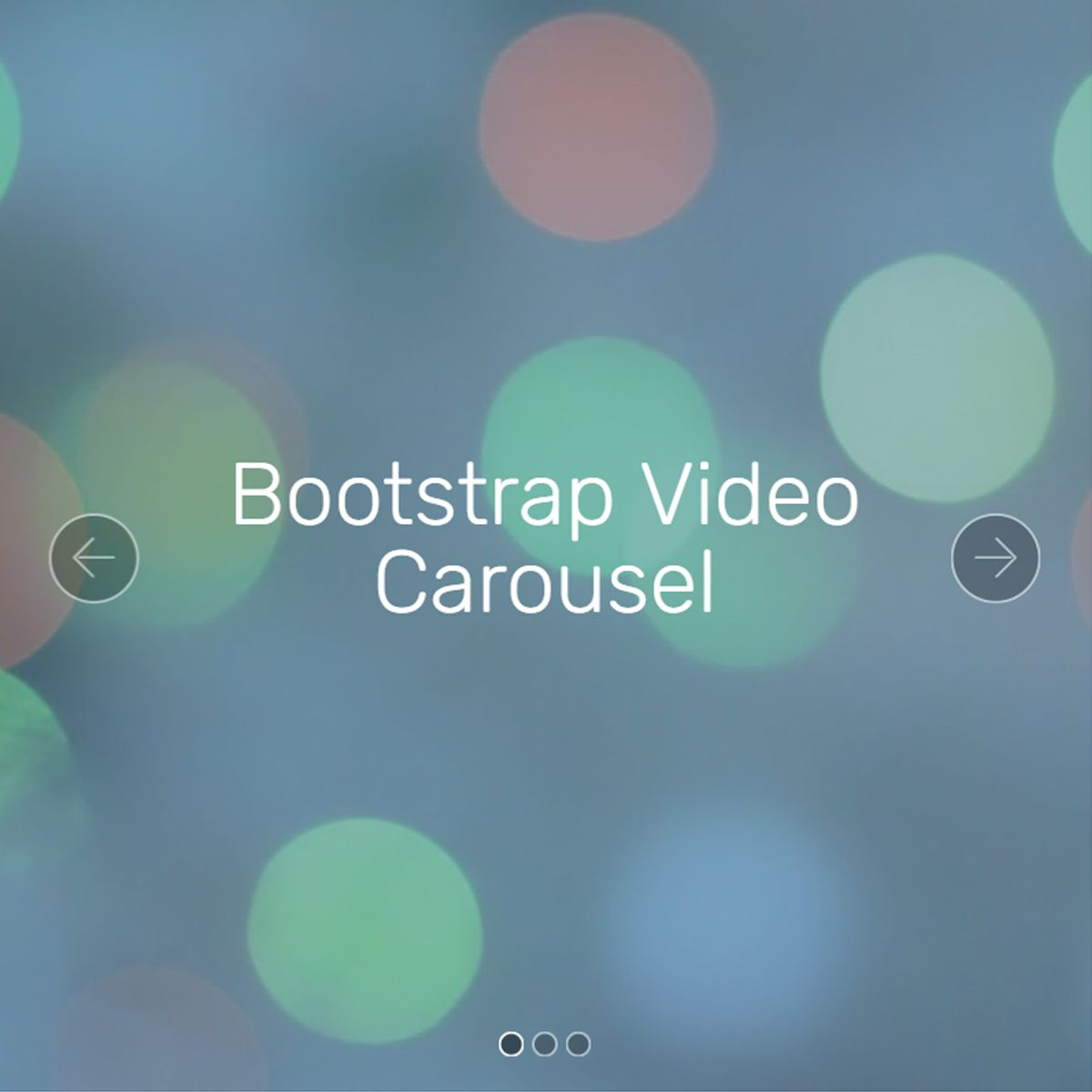 CSS3 Bootstrap Photo Slideshow