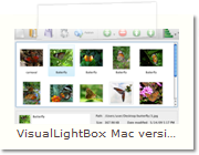 Web Photo Album Mac version - Main Window
