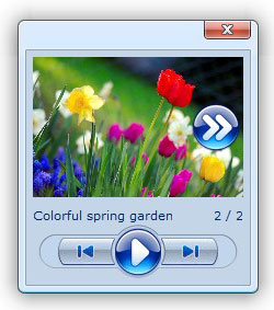 open a transparent popup window Web Album Ftp Folder